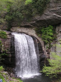 Looking Glass Falls, Asheville, North Carolina- One of my favorite place to visit. On days that I miss the beach, I just go to one of Blue Ridge Mountains many waterfalls.