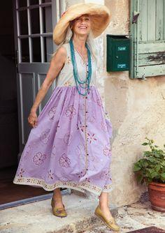 """Aditi"" eco-cotton dress – Block-prints on spring's most beautiful fashion –…"