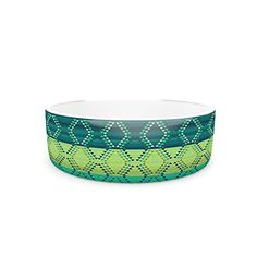 Kess InHouse Nina May Denin Diamond Gradient Green Pet Bowl 7Inch Turquoise Emerald *** For more information, visit image link.(This is an Amazon affiliate link)