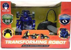 Robot Transforming Radio Control Blue Hat RC Blue Car New #radiocontrolcars #radiocontrolboats