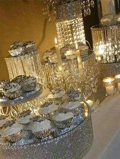 http://www.beadshop.com.br/?utm_source=pinterest&utm_medium=pint&partner=pin13 decoração de casamento com strass Desert table Visit http://www.brides-book.com for more great wedding resources