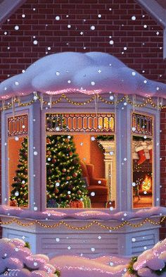 COZY & WARM AT CHRISTMAS TIME Christmas Scenes, Christmas 2019, Christmas Holidays, Merry Christmas, Decorating With Christmas Lights, Xmas Decorations, Hug Gif, Christmas Paintings, Holy Night