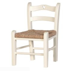 Childs Chair White With Heart   Sweetpea & Willow