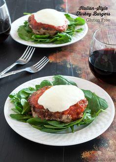Italian-Style Turkey Burgers Recipe| www.nutritiouseats.com