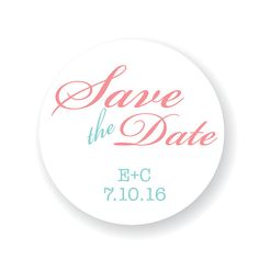 Custom Save the Date Stickers Invitation by StickEmUpLabels, $5.50