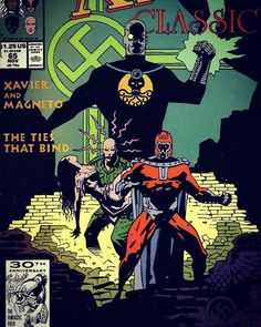 The cover to X-Men Classic # 65 by Mike Mignola. #thecosmiccomicbookbroadcast #marvelcomics #theuncannyxmen #xmenclassic #charlesxavier #magneto #mikemignola