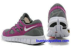 free shipping b88a4 0dea2 Mujer Nike Free Run 2 Zapatillas (color   vamp - purpura, gris , en el  interior - gris   logo y unico - blanco)