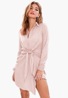 Trendy shirt dresses for women Midi Shirt Dress, Long Sleeve Shirt Dress, Nice Dresses, Dresses With Sleeves, Backless Mini Dress, Satin Shirt, Dress Shirts For Women, Summer Wear, Women's Fashion