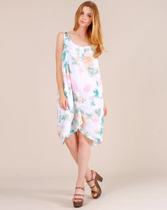 #Robe en Lin #Fleur New Blanche 29 € sur BazarChic ;)