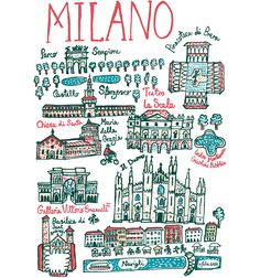 I drew Milan a couple of days before I was due to visit this beautiful Italian city. Talented was due to be launched at an international fashion show in Milan and I drew the Cityscape to celebrate the occasion. It was also a great way to get to know my way around the city! I love the Rococo architecture, all those curves and crosses, that decorate the biscuit coloured buildings, like icing on a cake!