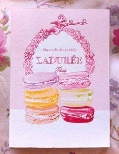 Ladurée Macaroons A6 prints set of three by mbaileyillustrations, $20.00