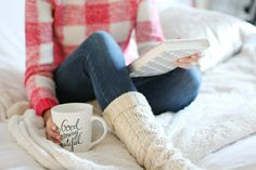 The only thing better than a really good cup of tea, are cozy socks and a book you can't put down......