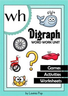 FREE WH Digraph word work unit. 84 pages in total.