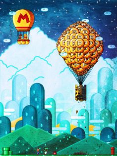 Up up and away  by *marcshort #mario #videogame #nitendo #art