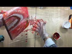 ( 205 ) Acrylic pouring with homemade Pouring medium - YouTube