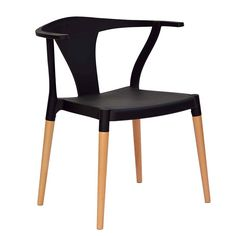 Amazon.com - High Quality Wishbone Inspired Modern Accent Chair (Set of 2) Kitchen Furniture Black - Table & Chair Sets