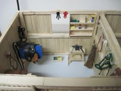 breyer home made saddle on horse | Almost all of the accessories in this tack room were made by me.