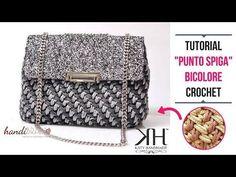 TUTORIAL PUNTO SPIGA BICOLORE - Scuola di uncinetto #12 ● Katy Handmade - YouTube