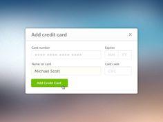 add credit card user interface