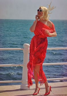 Red Maxi Dress / Long Summer Kaftan