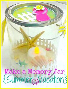 Make a Memory Jar ...  I think these would be so fun..  And she mentions making a nightlight out of them by using the battery tea lights..   I think one of my old canning jars would go a long way to making this craft way to cool...