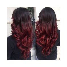 Red balayage hair ❤ liked on Polyvore featuring accessories, hair accessories and red hair accessories