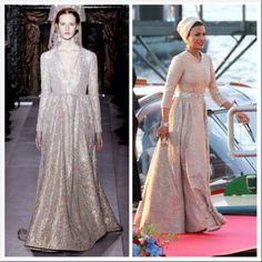 Sheikha Mozah's gown from the post inaugural party is by Valentino 5/1/13