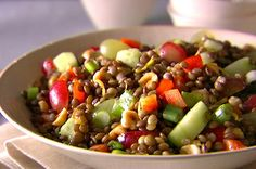 You'll find the ultimate Giada De Laurentiis Italian Lentil Salad recipe and even more incredible feasts waiting to be devoured right here on Food Network UK. Yummy Recipes, Clean Eating Recipes, Whole Food Recipes, Vegetarian Recipes, Cooking Recipes, Healthy Recipes, Clean Foods, Cooking Food, Eating Clean