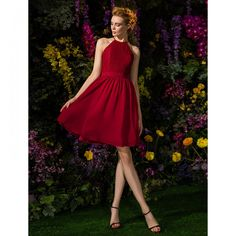A-line Jewel Knee-length Chiffon And Lace Bridesmaid Dress save up to Off at LightintheBox Coupon & Promo Codes. Cheap Bridesmaid Dresses Online, Knee Length Bridesmaid Dresses, Burgundy Bridesmaid Dresses, Knee Length Dresses, Short Dresses, Formal Dresses, Dress Skirt, Lace Dress, Dress Up