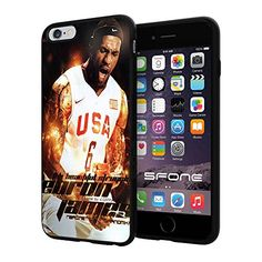 """NBA Basketball Player LeBron Raymone James Cleveland Cavaliers / Miami Heat, Cool iPhone 6 Plus (6+ , 5.5"""") Smartphone Case Cover Collector iphone TPU Rubber Case Black Phoneaholic http://www.amazon.com/dp/B00WGYG03Y/ref=cm_sw_r_pi_dp_6MPpvb1DRDQEB"""