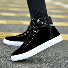 Cheap zapatos hombre, Buy Quality mens high tops directly from China canvas shoes Suppliers: 2016 Fashion autumn winter Men high top Casual comfortable Shoes Canvas Shoes Lace Up Breathable Men flat Shoes Zapatos Hombre Sneakers Mode, Casual Sneakers, Sneakers Fashion, Casual Shoes, Fashion Shoes, Mens Fashion, Men Casual, Fashion 2016, Leather Sneakers