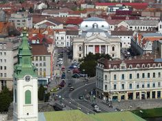 Regele Ferdinand square from above Oradea . Ferdinand, Beautiful Places, Traveling, Mansions, House Styles, City, World, Places, Childhood Memories