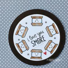Lawn Fawn - Love You S'more _ cute circle card by Jill via Flickr