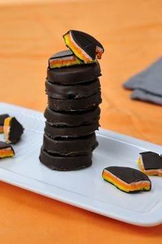 Candy Corn Peppermint Patties - perfect for Halloween!