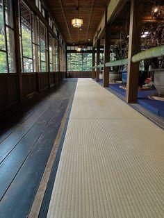 Tatami room at Keiunkan, Japan