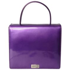 Purple Calf Leather Escada Handbag New Old stock 1990s | From a collection of rare vintage shoulder bags at https://www.1stdibs.com/fashion/handbags-purses-bags/shoulder-bags/