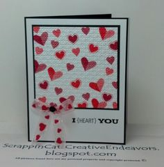 Welcome to Scrappin' Cat's Creative Endeavors: Pinterest inspired Valentine's cards