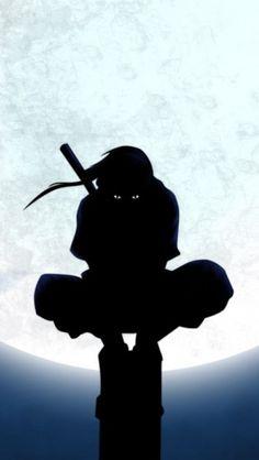Naruto Uchiha Itachi Silhouette http://theiphonewalls.com/naruto-uchiha-itachi-silhouette/
