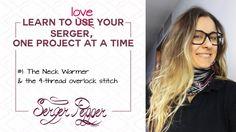 Serger Pepper // Beginner Serger Class - how to sew a Neck Warmer with a...