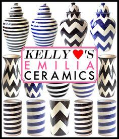 striped & zig-zag ceramics