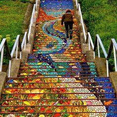 Mosaic  stair case, San Francisco