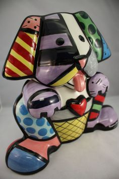 Dog cookie jar. Design by Britto