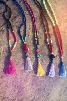 Boho Circus tassel necklaces