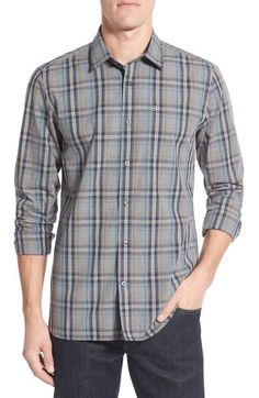 Victorinox Swiss Army® 'Ninety Six' Trim Fit Plaid Sport Shirt available at…