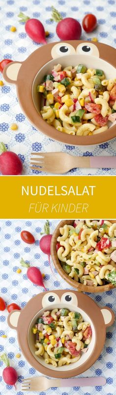 The best pasta salad for kids with meat sausage, cucumbers, tomatoes, corn and radishes and a quick Pasta Salad For Kids, Salads For Kids, Best Pasta Salad, Mayonnaise, Cooking With Kids, Baby Food Recipes, Fruit Salad, Food Inspiration, Sausage