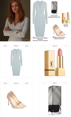 Donna Paulsen's office style in Suits USA. Business Clothes, Business Outfits, Business Fashion, Office Fashion, Work Fashion, Monday Friday, Wednesday, Donna Paulsen, Suits Usa