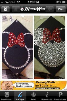 Graduation cap decorating, except a Tinkerbelle silhouette Disney Graduation Cap, Graduation 2016, Graduation Cap Designs, Graduation Cap Decoration, Grad Cap, Graduation Pictures, Abi Motto, Graduation Gifts, Graduation Ideas