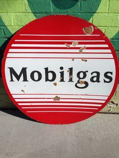 Mobilgas doublesided porcelain sign!