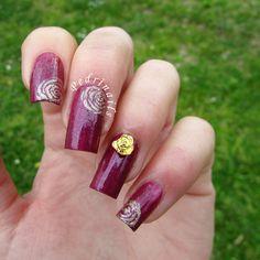 Pedrìnails: Review: Born Pretty Store - Metal rose design nail studs pretty 3D nail art decoration