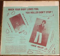 Loncie Norwood Malloy - When Your Baby Loves You, You Holler Don't Stop! (Vinyl, LP, Album) at Discogs